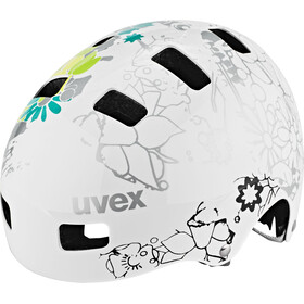 UVEX Kid 3 Casque Enfant, white flower